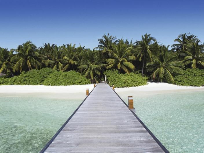 5 Sterne Malediven Urlaub - Wundervoller weisser Sandstrand