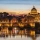 Blick auf Rom in der Abenddämmerung