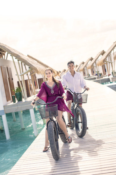 Emerald Maldives Resort Fahrradausflug auf der Insel