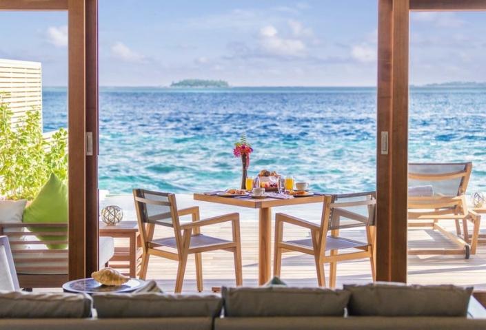 Hurawalhi Island Resort Ocean Villa Terrasse