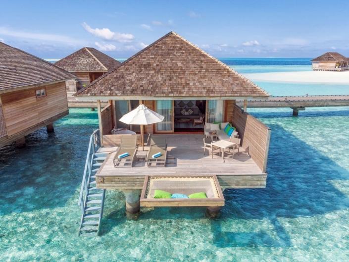 Hurawalhi Island Resort romantic Ocean Villa