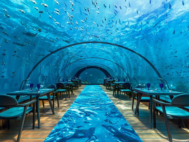 Hurawalhi Island Resort Unterwasser Restaurant