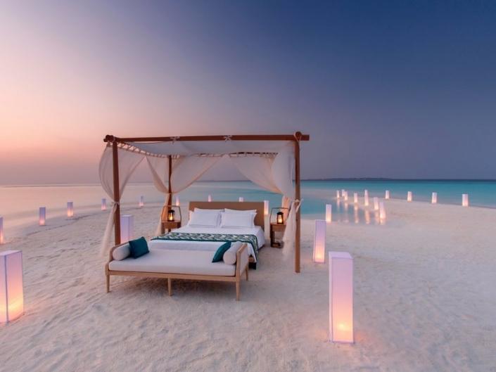 Abends am Strand einer Privatinsel