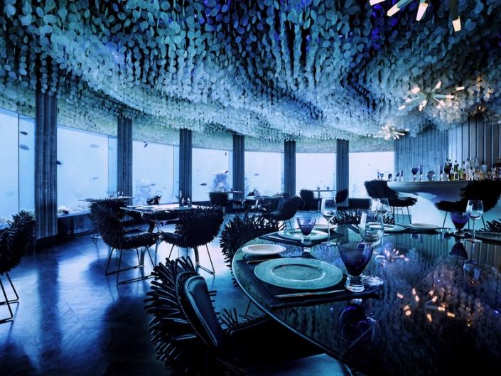 Niyama Private Islands Unterwasserrestaurant
