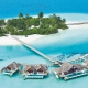 Niyama Private Islands Luftaufnahme Water Pavillions