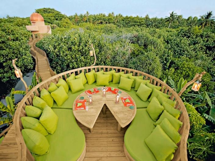 Soneva Fushi Malediven - Das Highlight die Resort Dschungel Bar