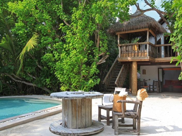 Zimmer Crusoe mit Pool