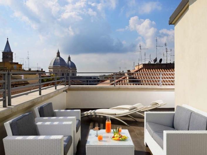 Deco Hotel Rom - 4 Sterne Dachterasse