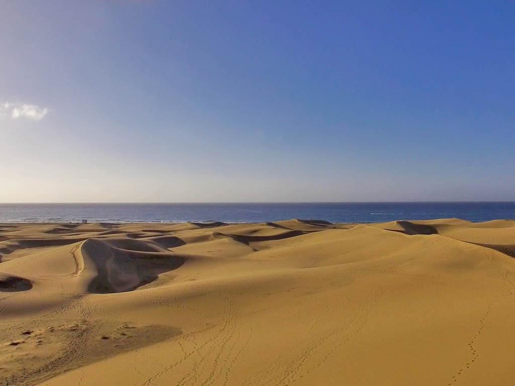 Blick auf die Dünen von Gran Canaria