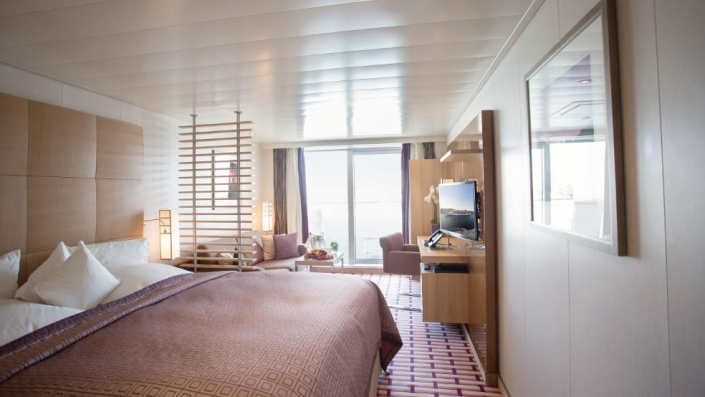 MS Europa 2 Wohnbeispiel Ocean Suite