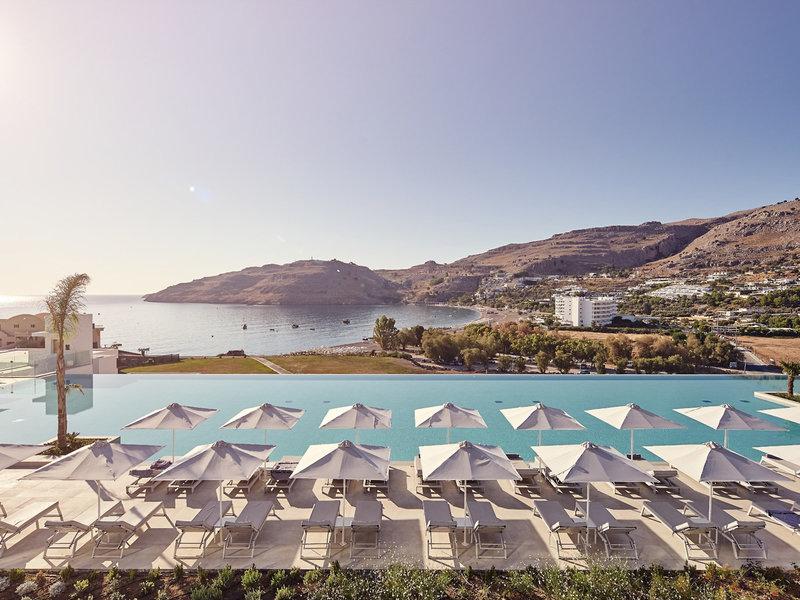 Lindos Grand Resort und Spa Am Pool mit Blick über die Bucht