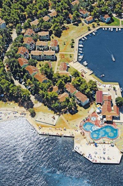 Meliá Istrian Villas Kroatien - Aus der Vogelperspektive über die Anlage blicken