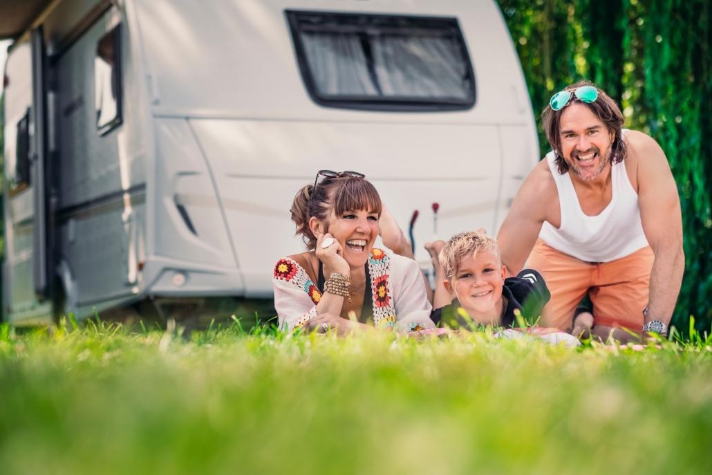 Camping und Campmobil Spass am Wasser