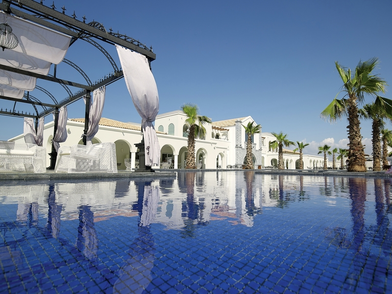 Anemos Luxury Grand Resort Kreta Ausblick vom Pool