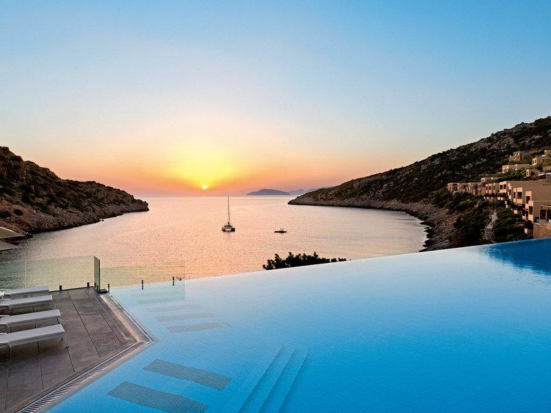 Daios Cove 5-Sterne Luxury Resort - Fantastischer Blick zum Sonnenuntergang