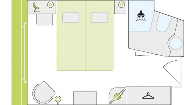 Kabinenbeispiel Grundriss einer Kabine