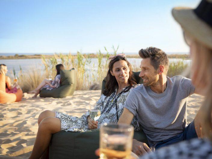 Strand Entspannung mit Freunden