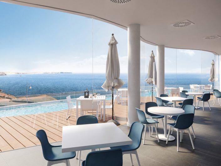 La Cala Suites Lanzarote - An der Poolbar mit Blick auf den Atlantik
