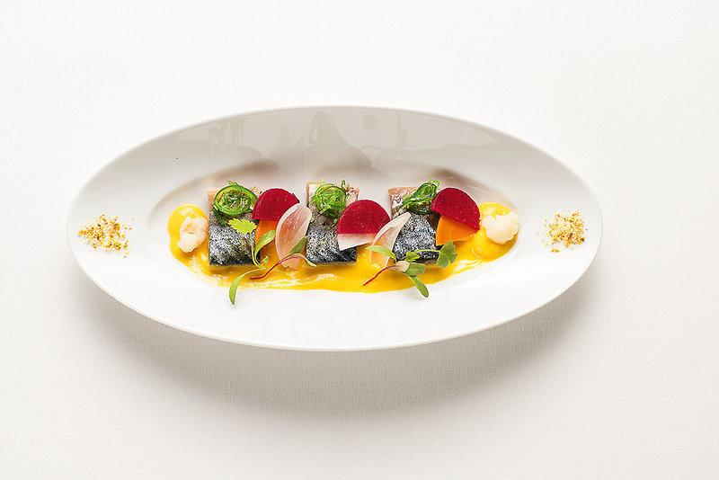 Estalagem Funchal Madeira - Eine Vorspeise beim Dinner im Manor House Restaurant