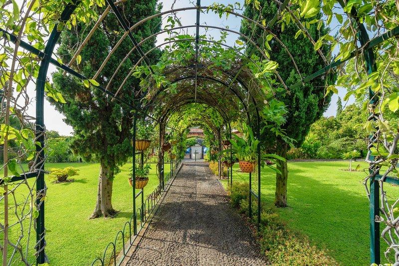 Quinta Jardins Madeira - Laubengang im botanischen Garten des Hotels