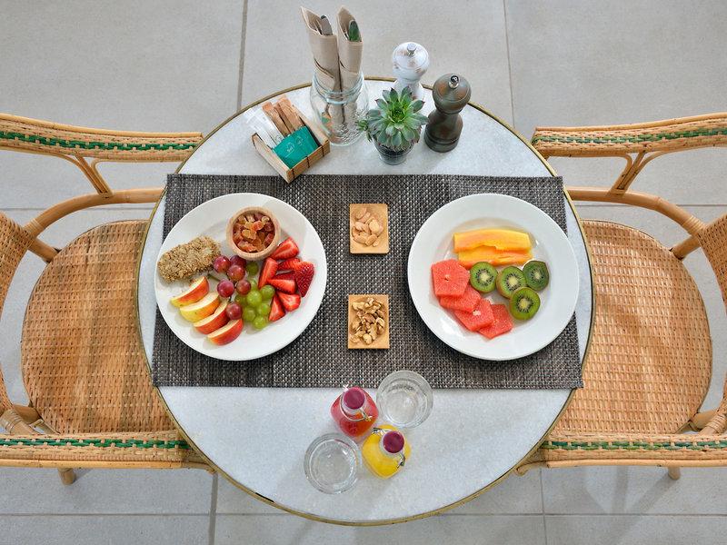 Lecker Frühstück am Meer