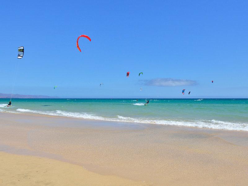 Surfen und Kiten