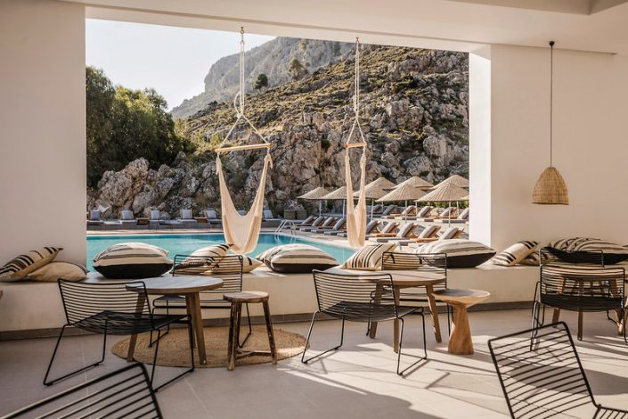 Casa Cook Rhodos - Blick aus der Bar über den Pool
