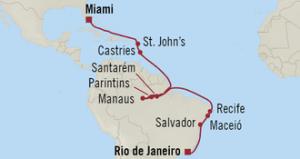 Amazon Holiday Streckenführung
