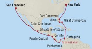 Panama Canal Pathway Streckenführung