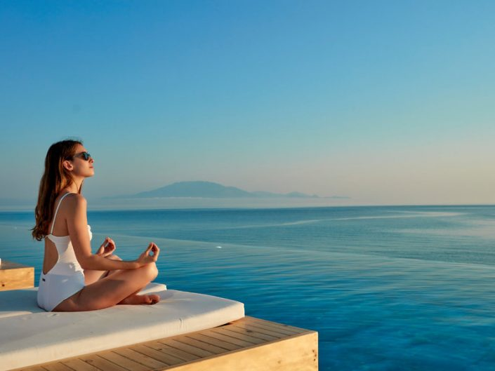 Meditation blau in blau
