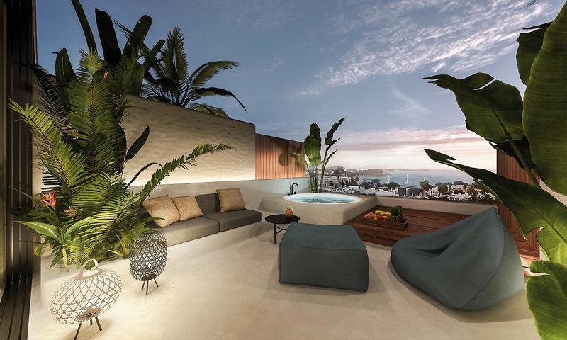 Nativo Ibiza - Abendstimmung auf der Terrasse