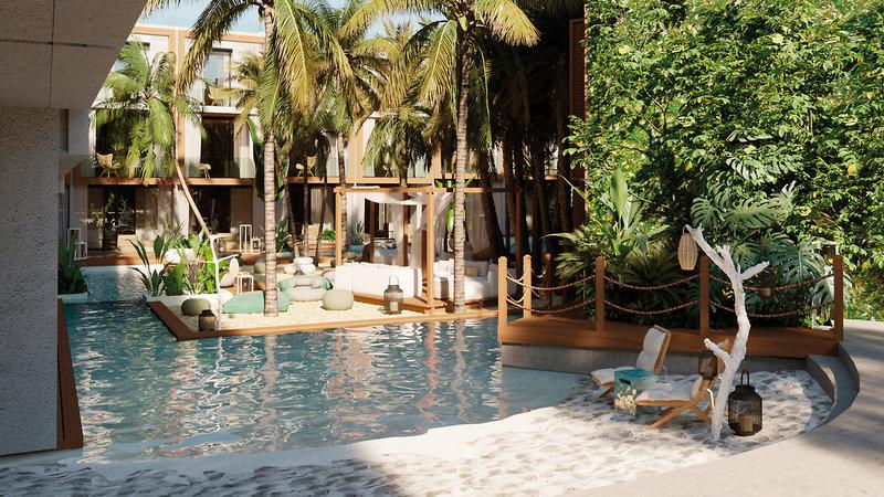Nativo Ibiza - Zauberhafter Poolbereich
