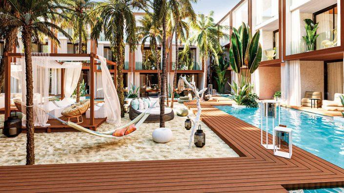 Pool und Relaxbereich