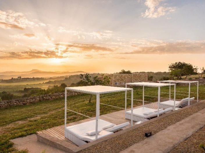 Cas Cabo Nou Agroturisme - Abenddämmerung über wunderbarer Landschaft