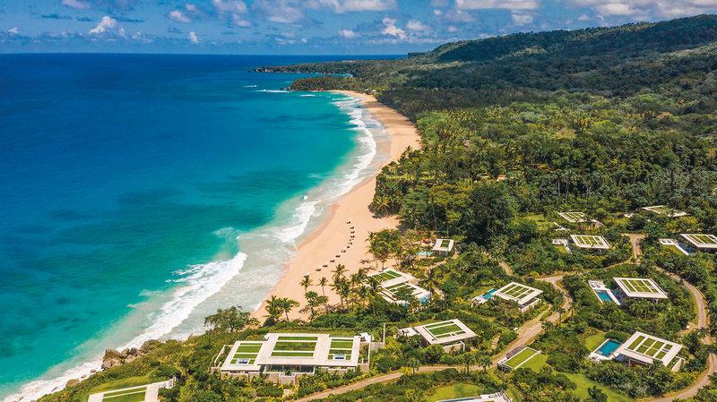 Blick über die wunderbare Anlage und den Strand