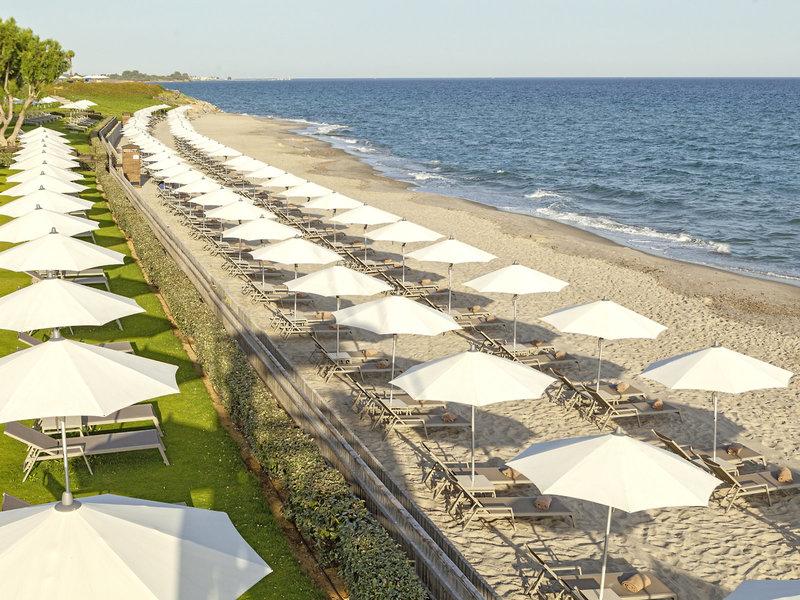 Neptune Hotels Kos - Der Gartenstrand und der Sandstrand