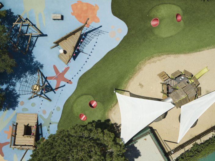 Spielplatz aus der Vogelperspektive