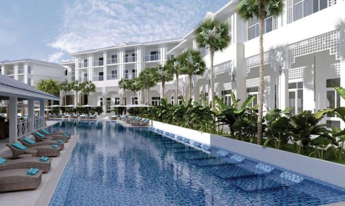 Angsana Kuba - Blick über Pool und Zimmer