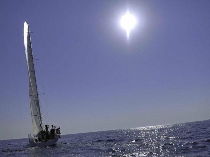 Auf dem Meer unterwegs