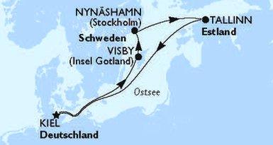 MSC Cruises - MSC Seaview Nordeuropa Route