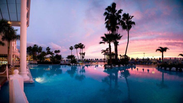 Erwachsenenhotel Guayarmina Princess Teneriffa - Sonnenuntergang über Teneriffa
