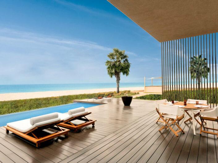 Oberoi Beach Resort Ajman - Private Pool Entspannung mit Strandblick und Meerblick