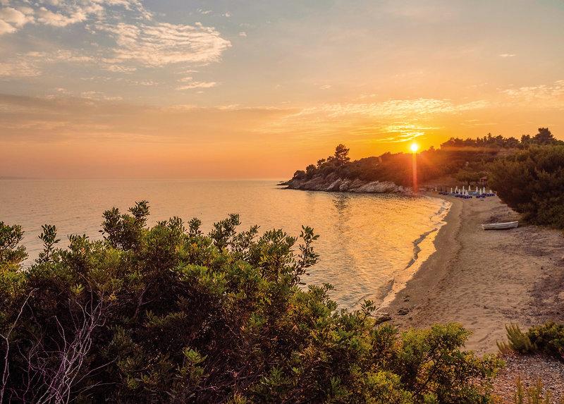 Casa Bloo Chalkidiki - Sonnenuntergang über dem Meer