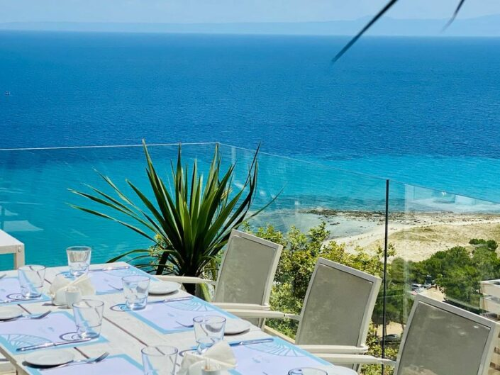 Rigas Boutique Hotel Chalkidiki - Im Restaurant mit wundervollem Meerblick