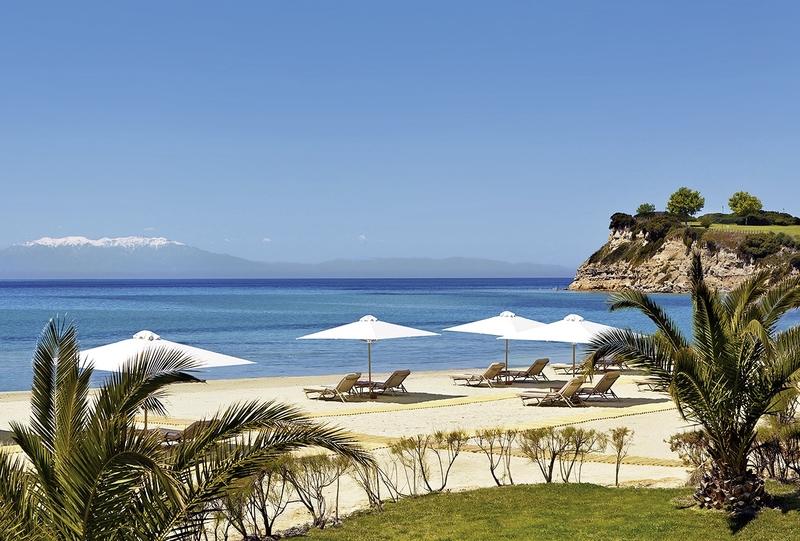 Sani Asterias Chalkidiki - Blick über den Strand und das Meer