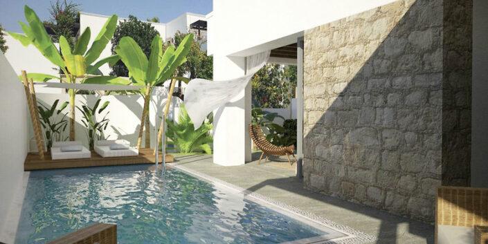 Wohnbeispiel mit Terrasse und private Pool