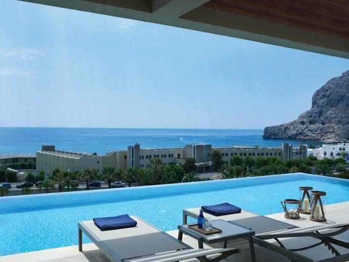 Blick über das Meer von der privaten Terrasse