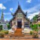 Ein Tempel in Chiang Mai im Norden Thailands