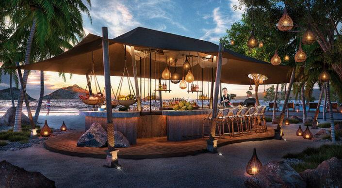 Banyan Tree Krabi Thailand - Abends an der Strandbar