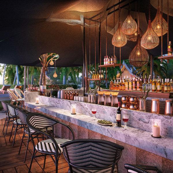 Banyan Tree Krabi Thailand - An der Bar einen Drink geniessen